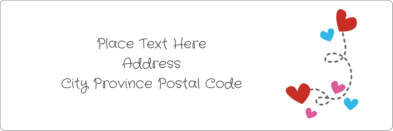"1⅓"" x 4"" Address Label - Valentine Black Background"