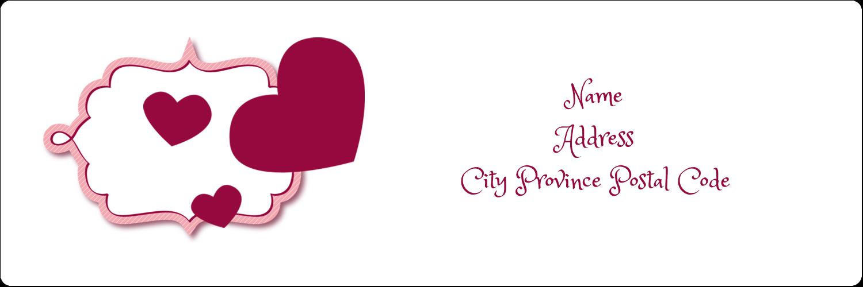 "1⅓"" x 4"" Address Label - Valentine Bubbles"
