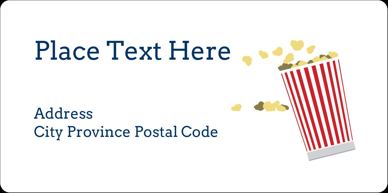 "2"" x 4"" Shipping Label - Movie Popcorn"