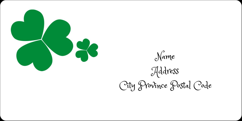 "2"" x 4"" Shipping Label - St. Patrick's Shamrock Background"