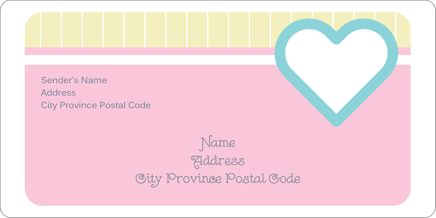 "2"" x 4"" Shipping Label - Blue Heart"