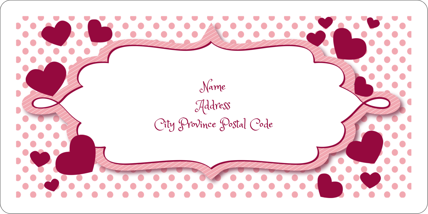 "2"" x 4"" Shipping Label - Valentine Bubbles"