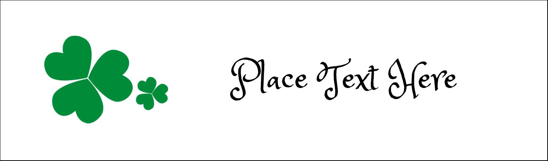 "2½"" x 8½"" Tent Card - St. Patrick's Shamrock Background"