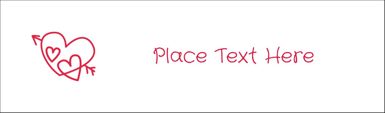 """2½"""" x 8½"""" Tent Card - Valentine Drawn"""