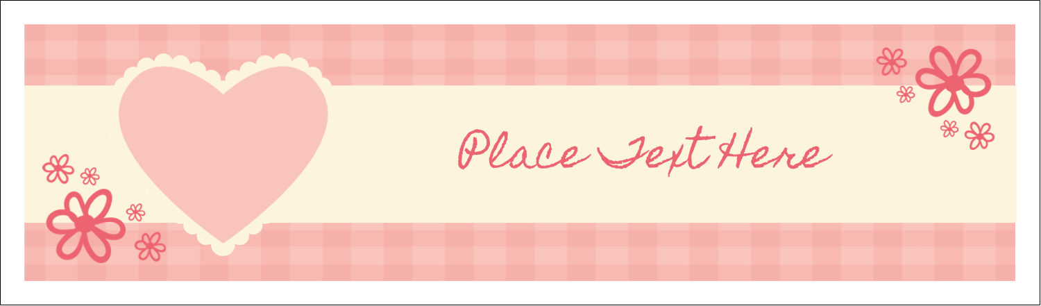 "2½"" x 8½"" Tent Card - Valentine Gingham"