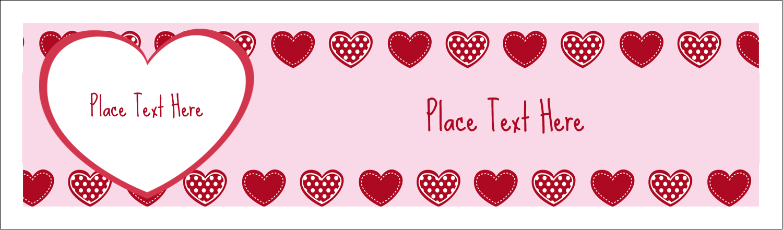 "2½"" x 8½"" Tent Card - Valentine Heart Pattern"
