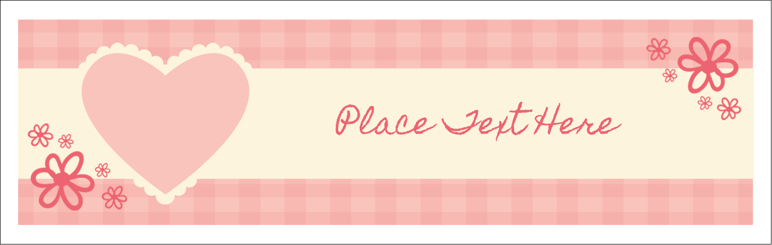 "3½"" x 11"" Tent Card - Valentine Gingham"