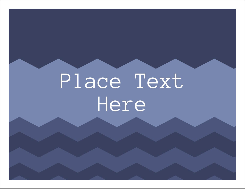 """5½"""" x 4¼"""" Note Card - Blue Chevron"""