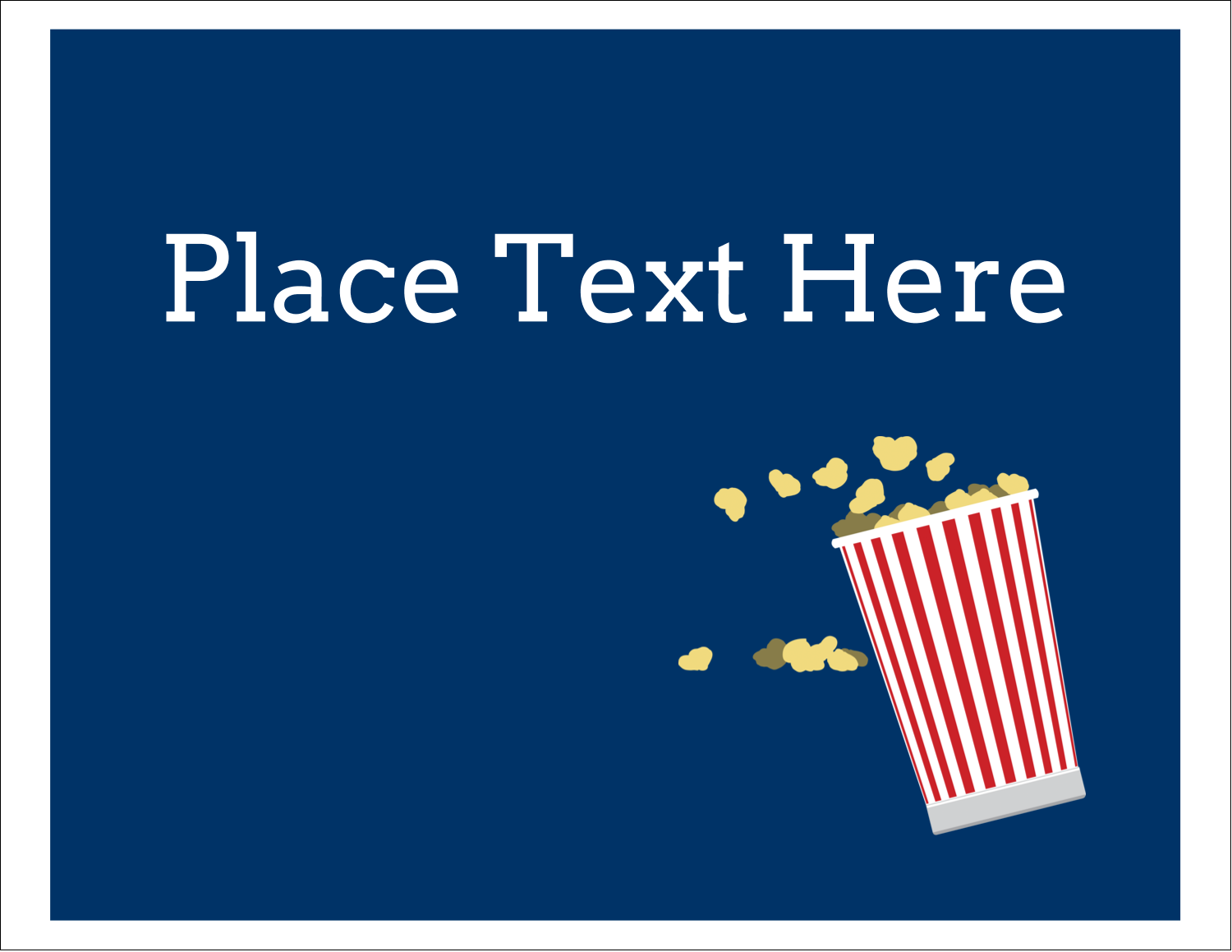 "5½"" x 4¼"" Note Card - Movie Popcorn"