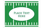 Get off the sidelines and touchdown on the goal line! Share your love of sports by creating labels and cards with your favourite green sports field.