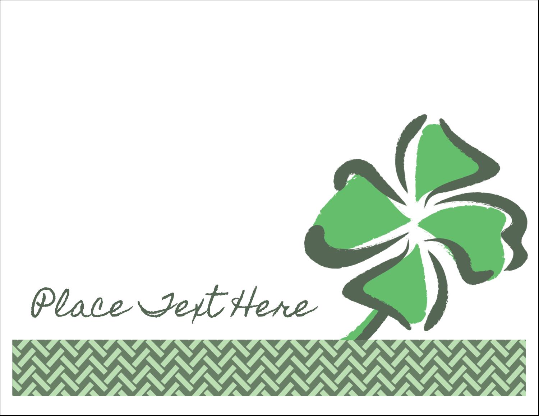 """5½"""" x 4¼"""" Note Card - St. Patrick's Shamrock"""