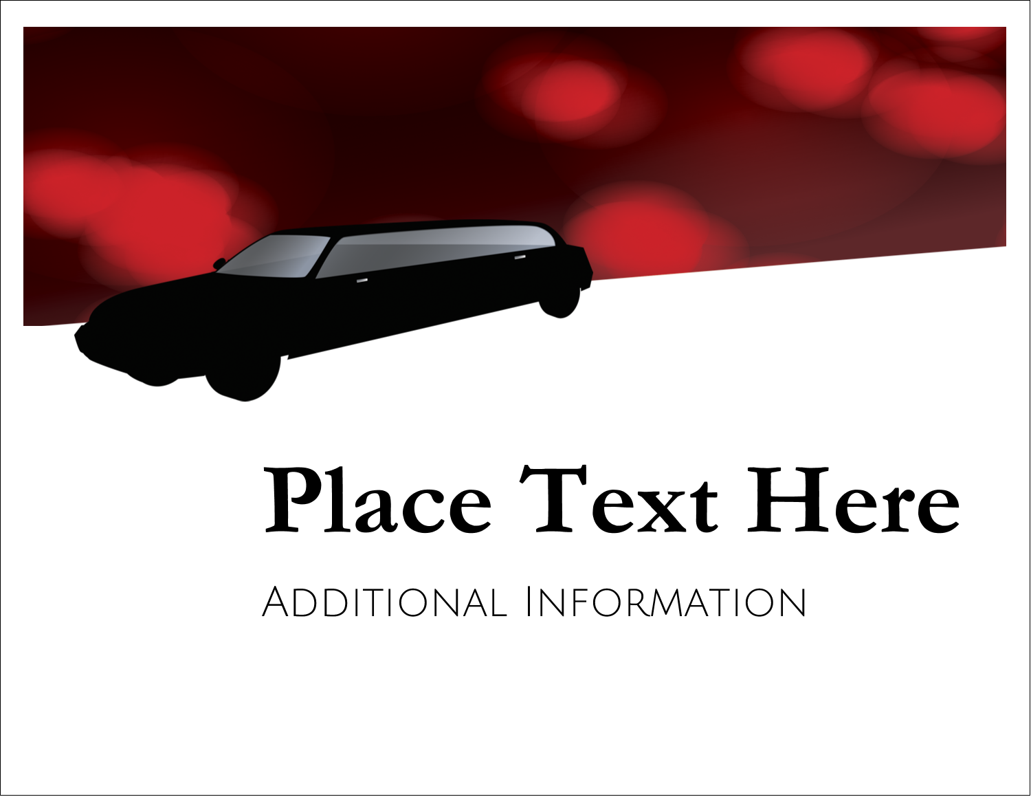 """5½"""" x 4¼"""" Note Card - Stretch Limo"""
