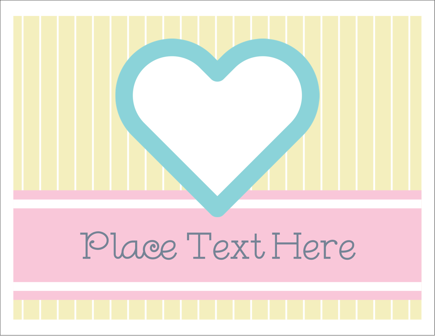 "5½"" x 4¼"" Note Card - Blue Heart"