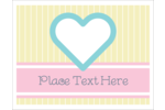 Bring an open heart to custom projects with printable pre-designed Blue Heart templates.