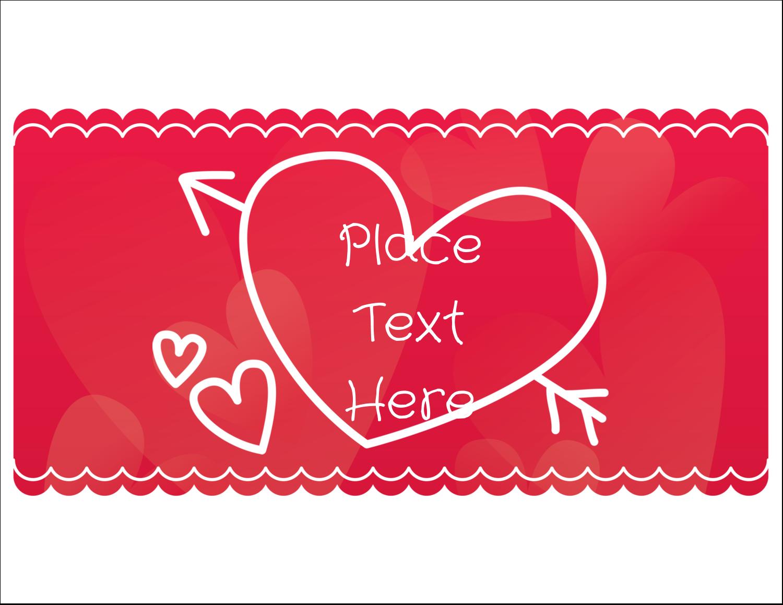 "5½"" x 4¼"" Note Card - Valentine Drawn"