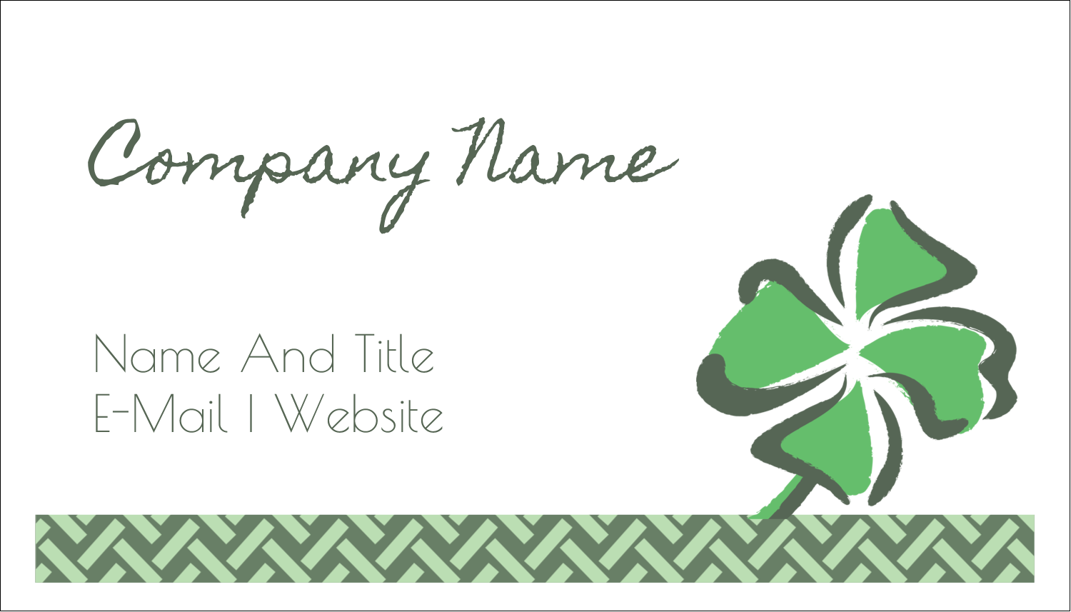 "2"" x 3½"" Business Card - St. Patrick's Shamrock"