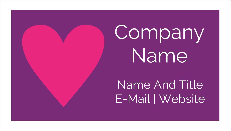"2"" x 3½"" Business Card - Valentine Heart Row"