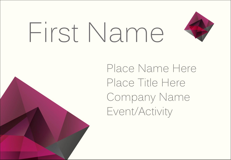 "3⅜"" x 2⅓"" Name Badge - Ruby Gem"