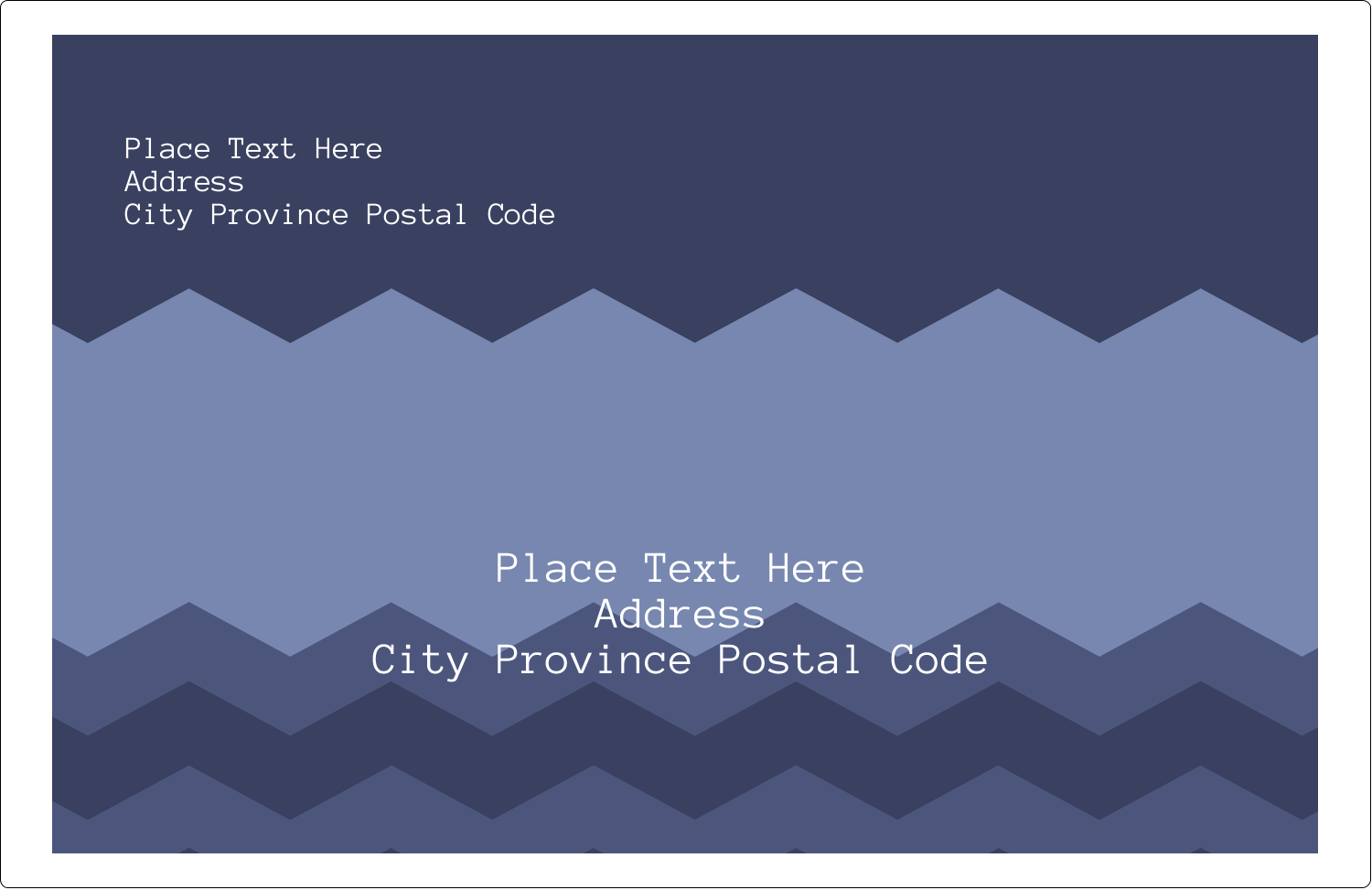 "5½"" x 8½"" Shipping Label - Blue Chevron"