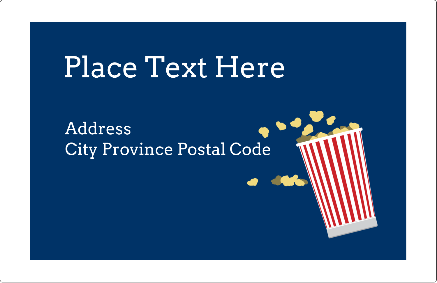 "5½"" x 8½"" Shipping Label - Movie Popcorn"