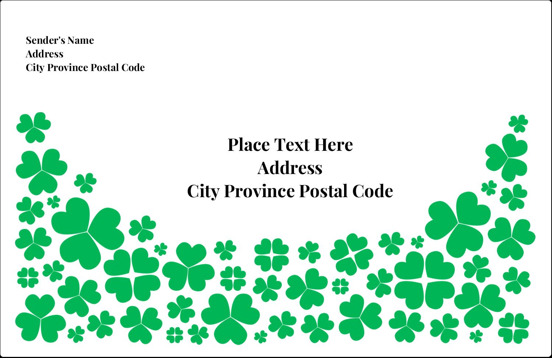 "5½"" x 8½"" Shipping Label - St. Patrick's Shamrock Rain"