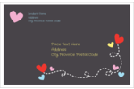Infuse projects with sweet style using pre-designed Valentine Black Background templates.