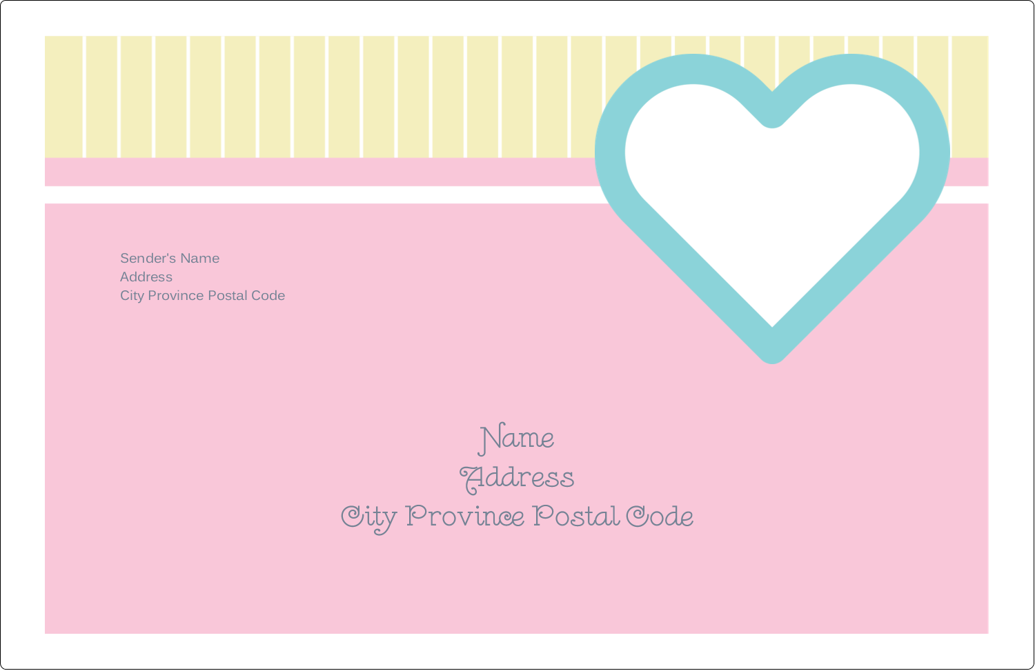 "5½"" x 8½"" Shipping Label - Blue Heart"