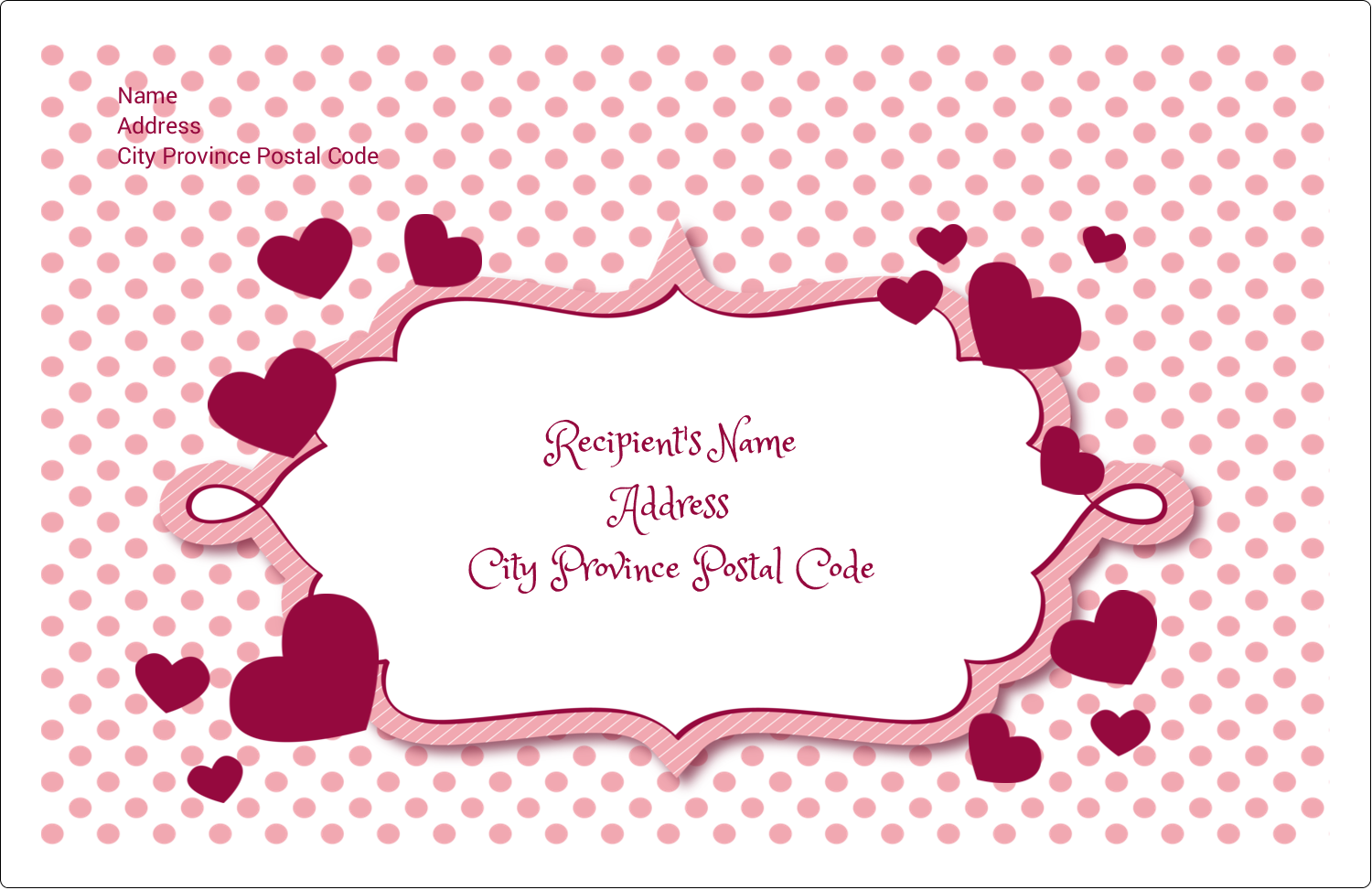 "5½"" x 8½"" Shipping Label - Valentine Bubbles"