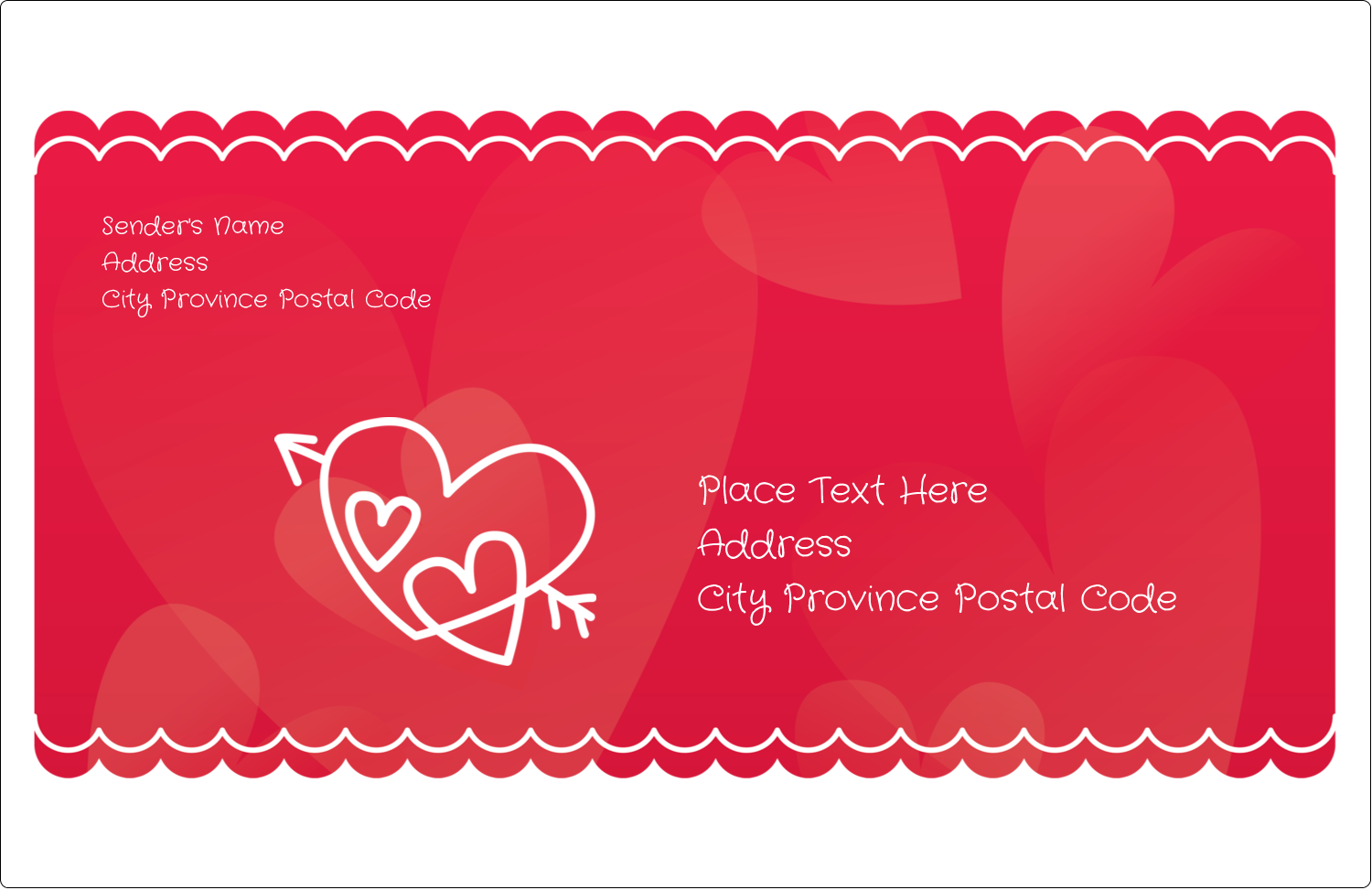 "5½"" x 8½"" Shipping Label - Valentine Drawn"