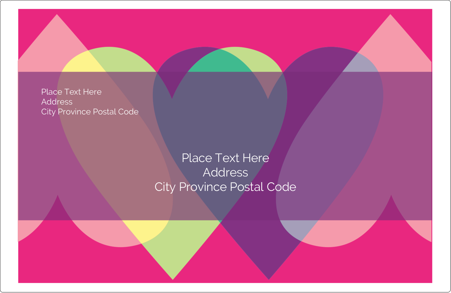 """5½"""" x 8½"""" Shipping Label - Valentine Heart Row"""