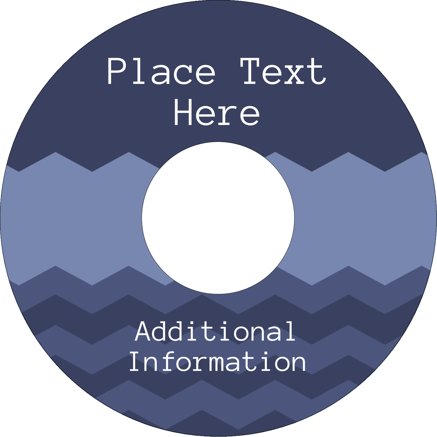 "4.65"" CD-DVD Label - Blue Chevron"