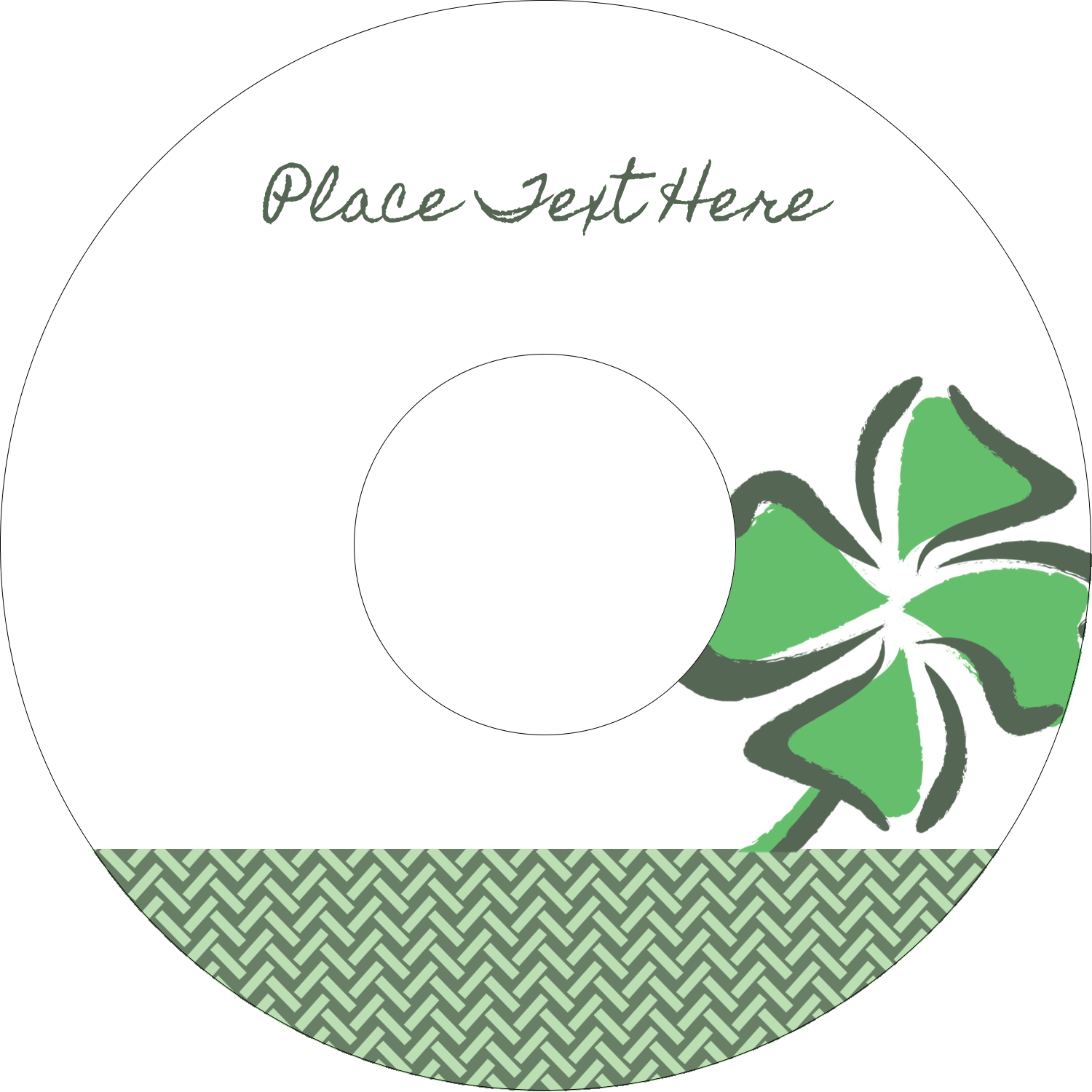 "4.65"" CD-DVD Label - St. Patrick's Shamrock"