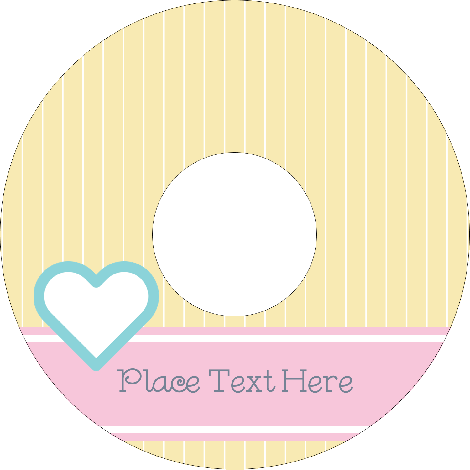 "4.65"" CD-DVD Label - Blue Heart"