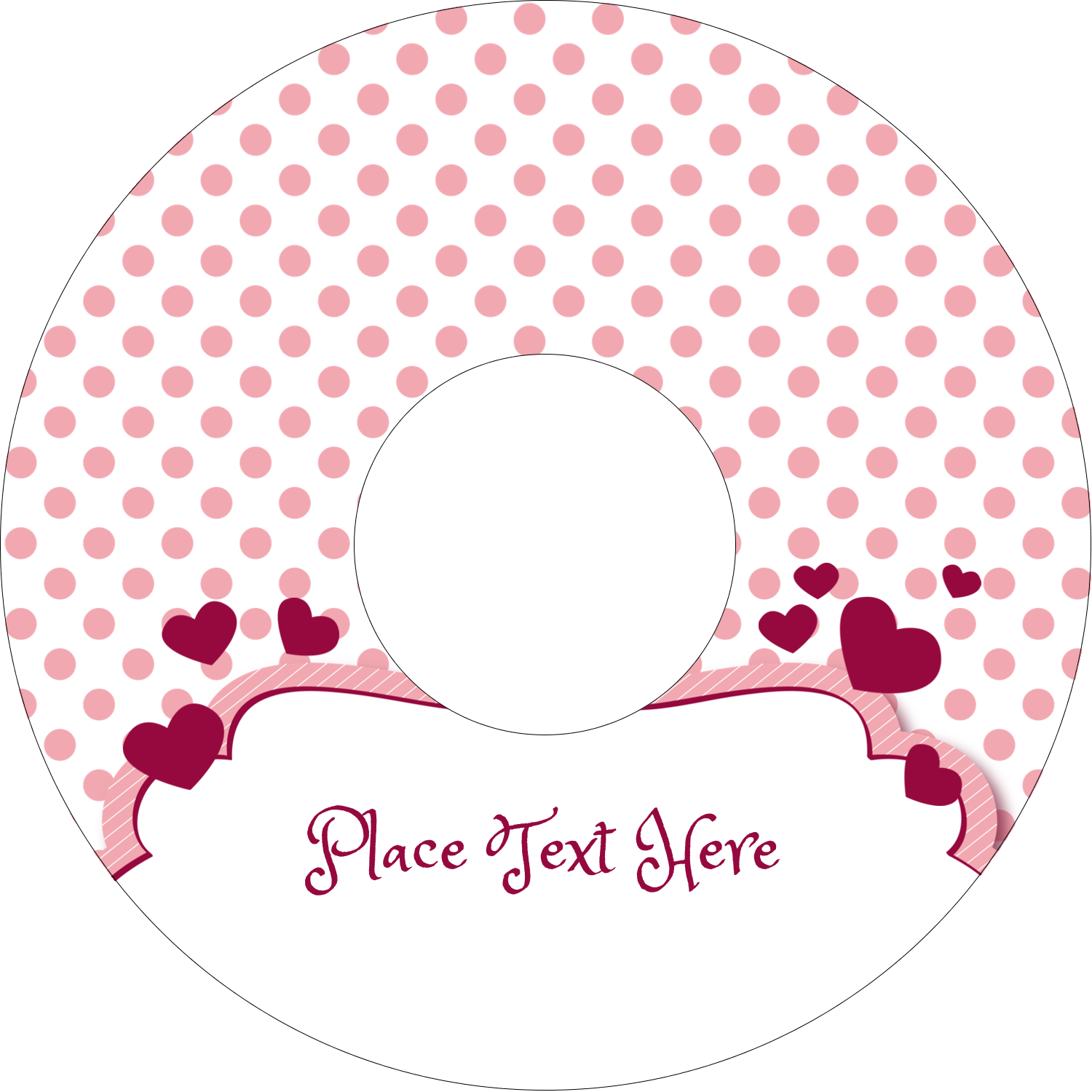 "4.65"" CD-DVD Label - Valentine Bubbles"