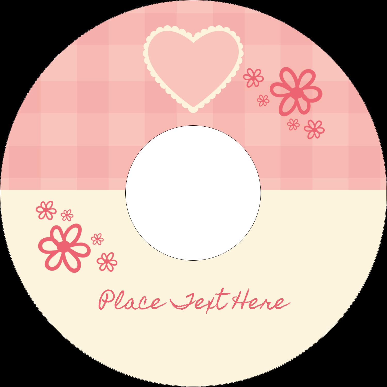 "4.65"" CD-DVD Label - Valentine Gingham"