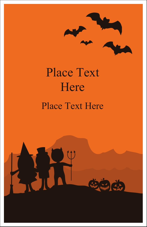 """5"""" x 8½"""" Half Fold Card - Halloween Kids"""