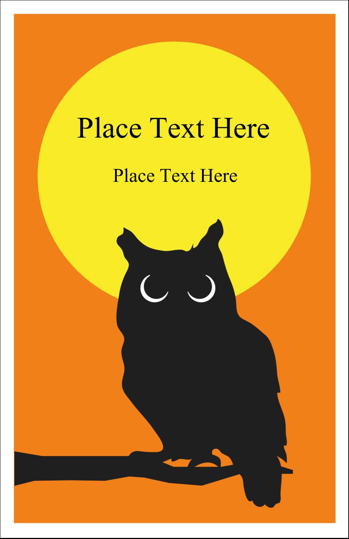 "5"" x 8½"" Half Fold Card - Halloween Owl"