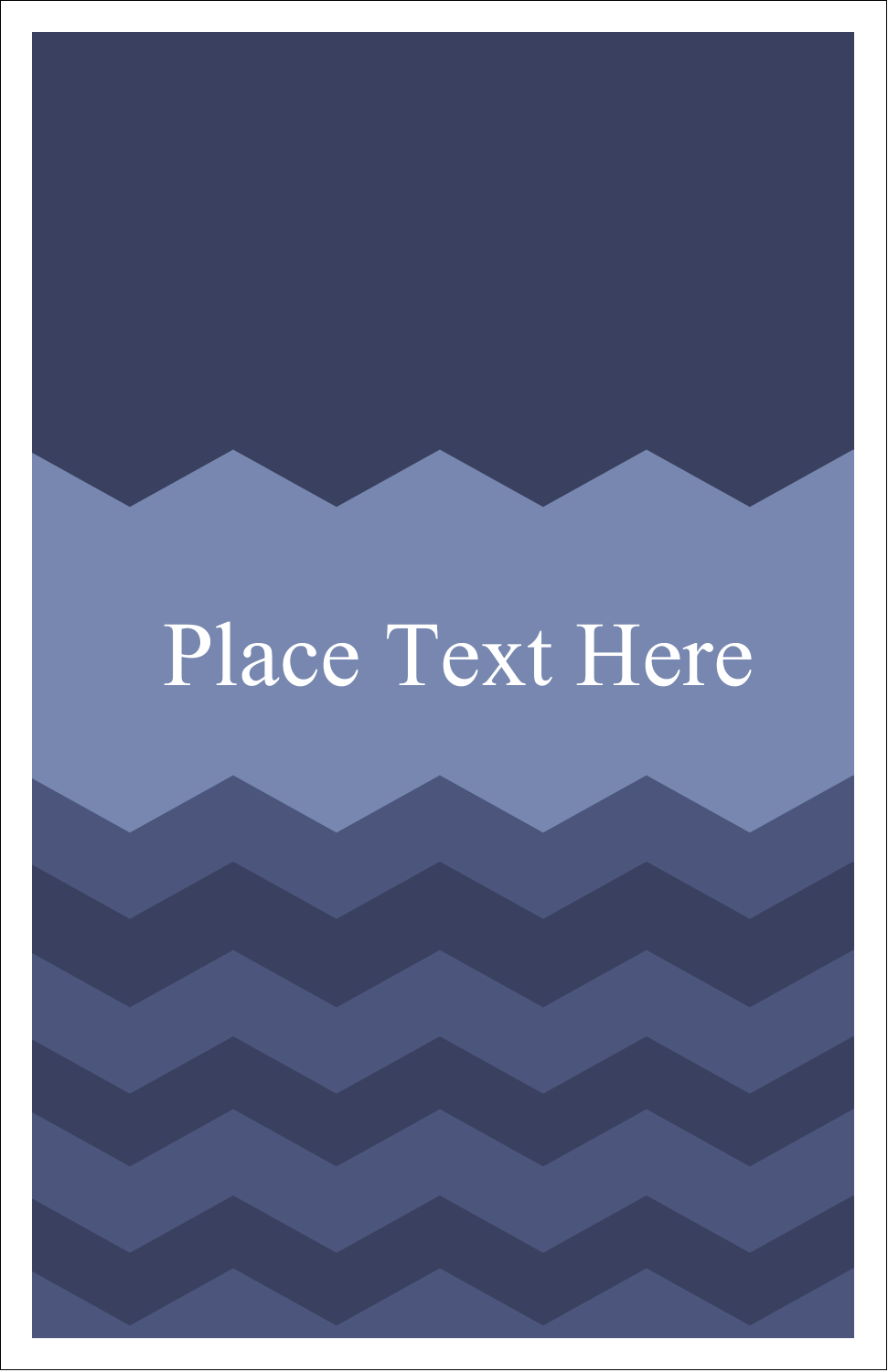 "5"" x 8½"" Half Fold Card - Blue Chevron"