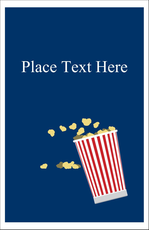 """5"""" x 8½"""" Half Fold Card - Movie Popcorn"""