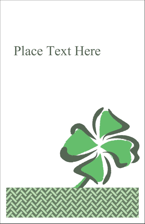 "5"" x 8½"" Half Fold Card - St. Patrick's Shamrock"