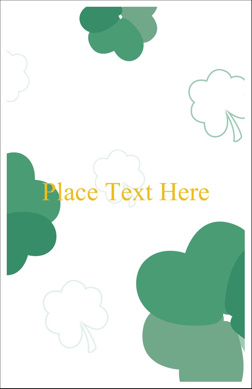 "5"" x 8½"" Half Fold Card - St. Patrick's Heart Shamrocks"