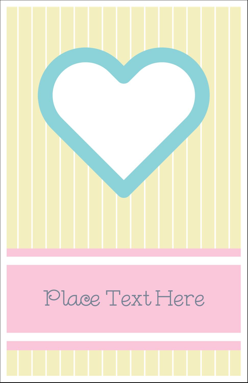 """5"""" x 8½"""" Half Fold Card - Blue Heart"""