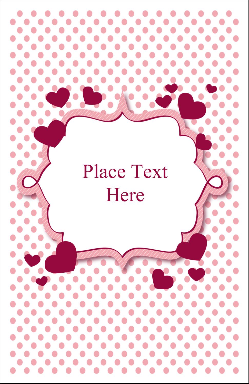 "5"" x 8½"" Half Fold Card - Valentine Bubbles"
