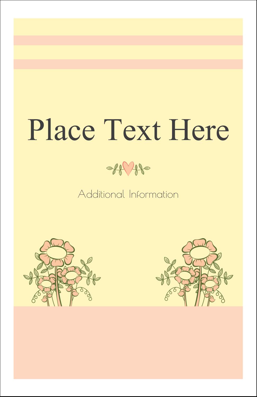"""5"""" x 8½"""" Half Fold Card - Flower Sketch"""