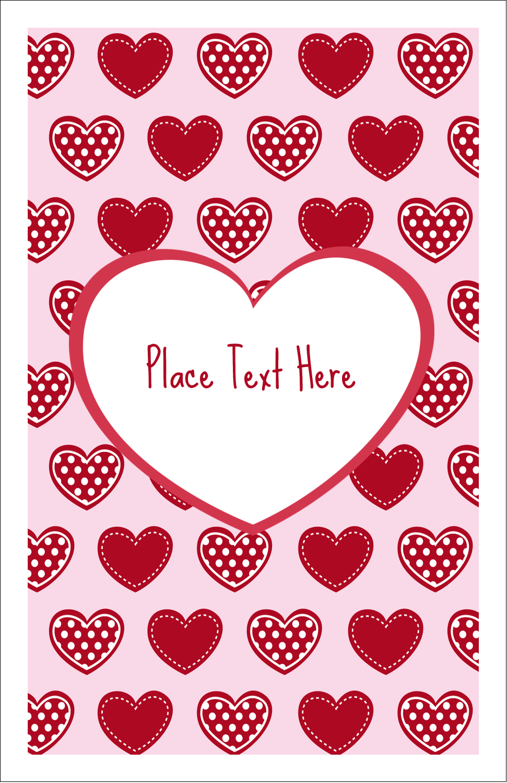 "5"" x 8½"" Half Fold Card - Valentine Heart Pattern"