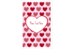Infuse sweet simplicity into projects with pre-designed Valentine Heart Pattern templates.