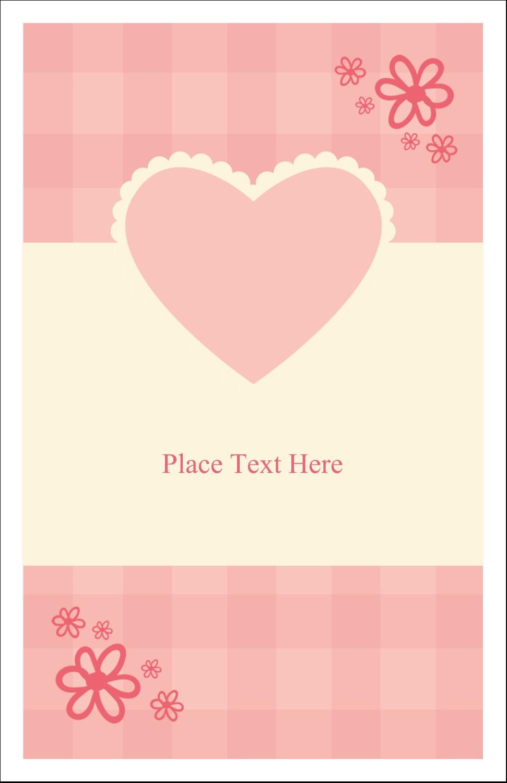 "5"" x 8½"" Half Fold Card - Valentine Gingham"