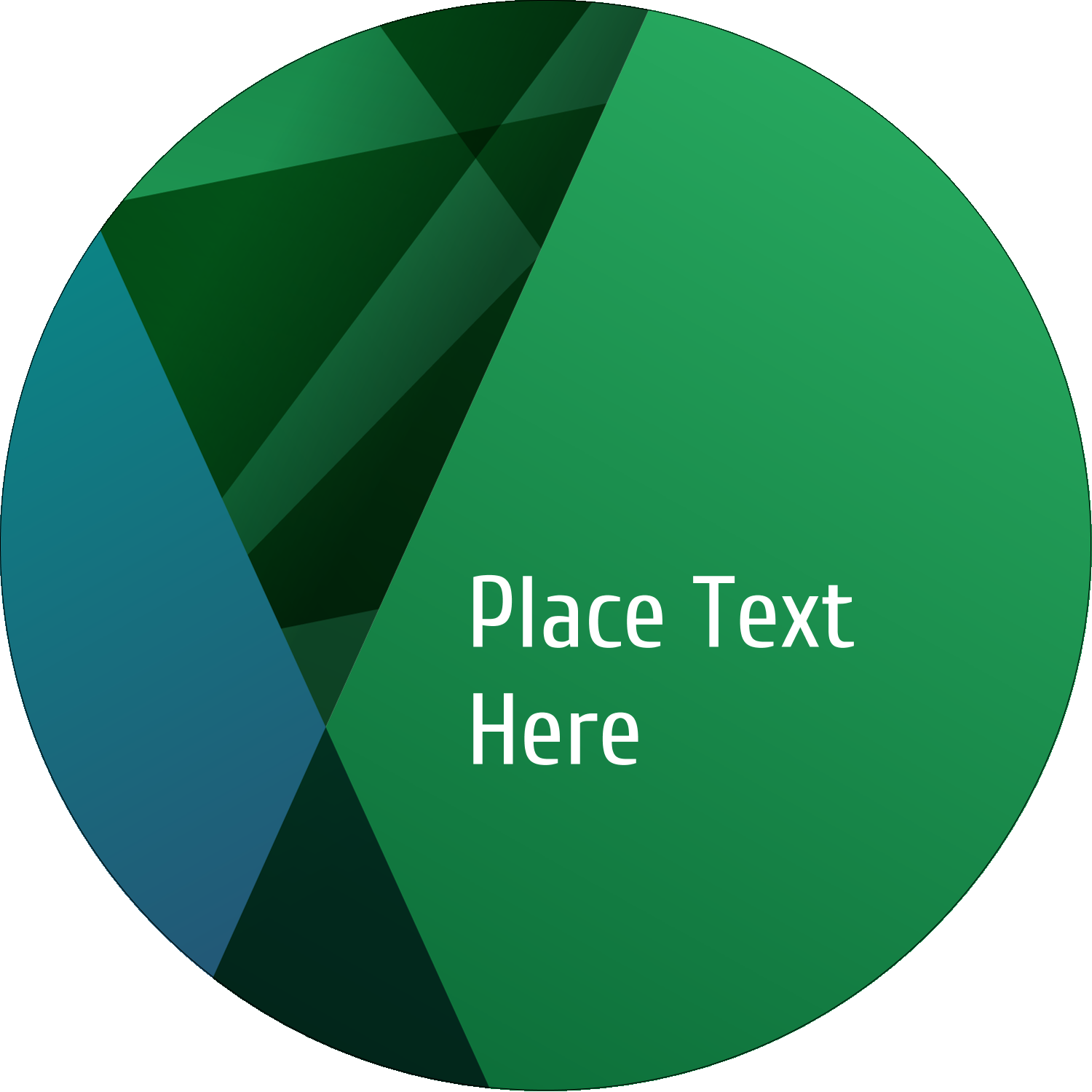 "1½"" Round Label - Green Triangles"