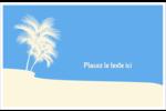 Palm Beach Cartes de souhaits pliées en deux - gabarit prédéfini. <br/>Utilisez notre logiciel Avery Design & Print Online pour personnaliser facilement la conception.
