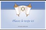 Rouleau de la Torah Cartes de souhaits pliées en deux - gabarit prédéfini. <br/>Utilisez notre logiciel Avery Design & Print Online pour personnaliser facilement la conception.
